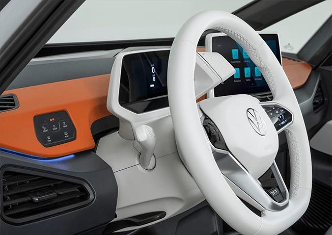 Dasboard oranje Volkswagen ID3
