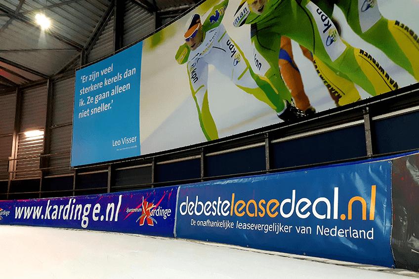 Sponsor Reclamedoek Sportcentrum Kardinge de beste lease deal