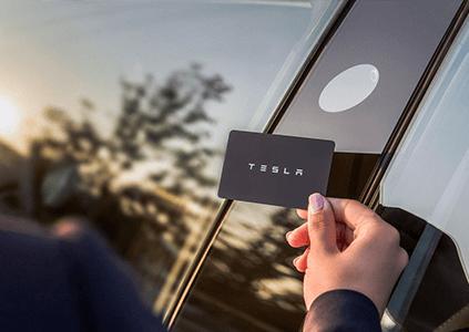 Tesla Model 3 sleutelkaart