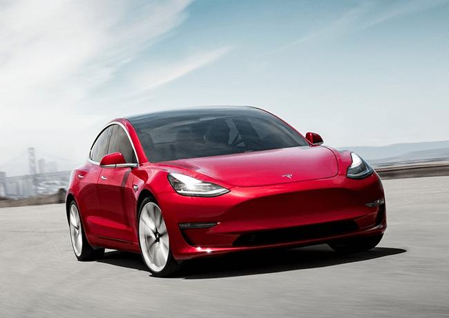 Voorkant Tesla Model 3